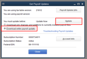 Download entire payroll update